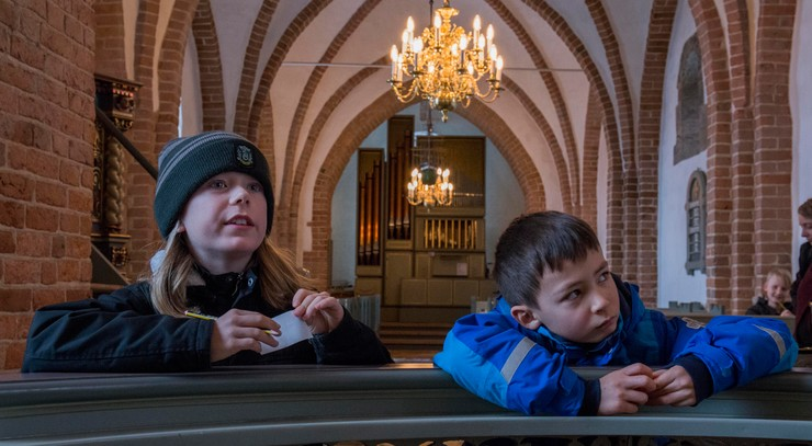 børnekonfirmander i Foldby Kirke