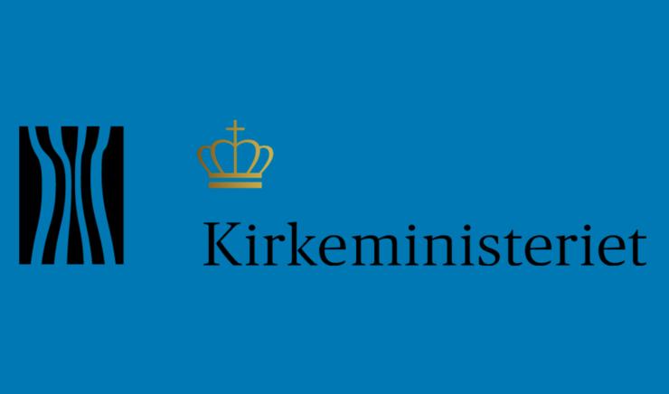 Kirkeministeriets logo