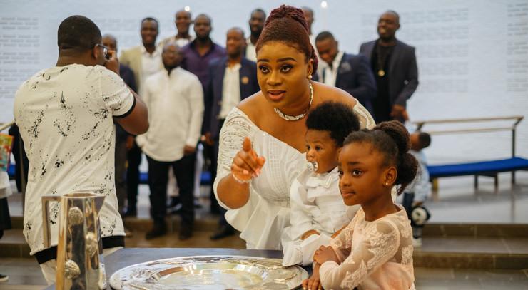 Døbt med sine børn