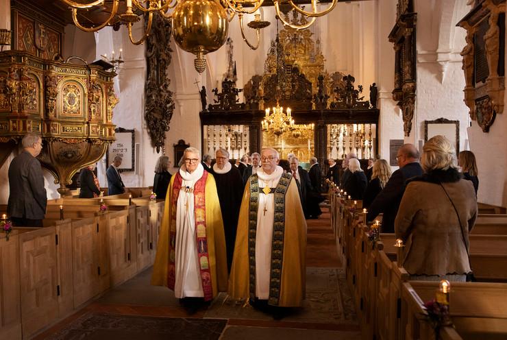 Peter Birch fra bispevielsen sammen med biskop Peter Skov Jakobsen